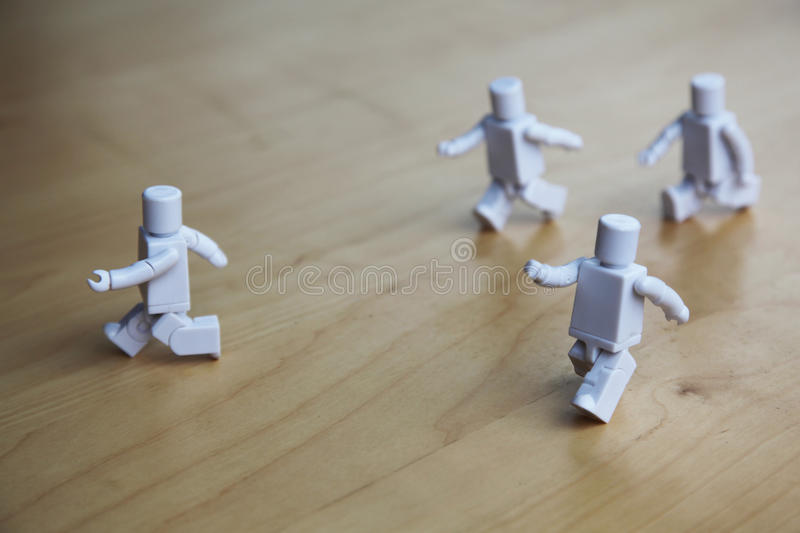 Running figures royalty free stock image