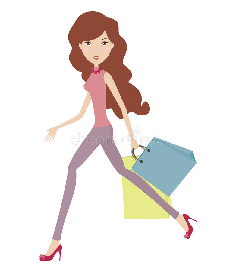 Download Running girl stock vector. Illustration of beauty, brown - 16196568