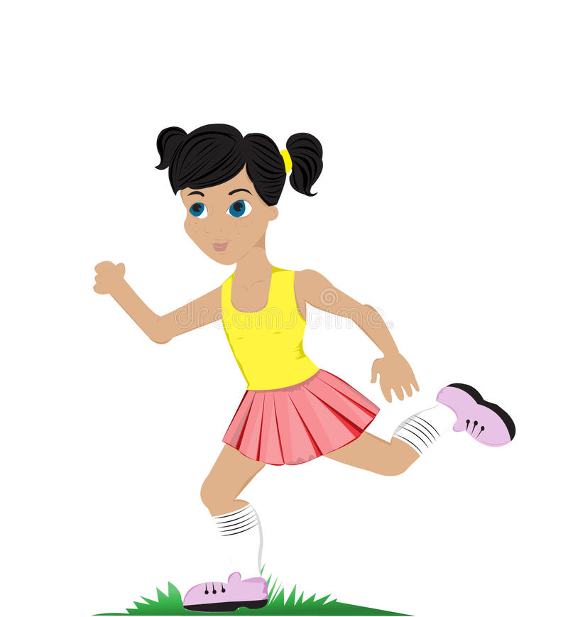 Download Running girl stock vector. Illustration of cartoon, childhood - 26697986