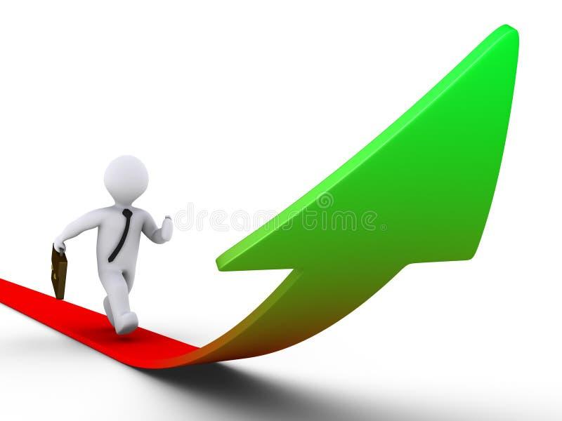 Download Running on growing graph stock illustration. Illustration of money - 23359228