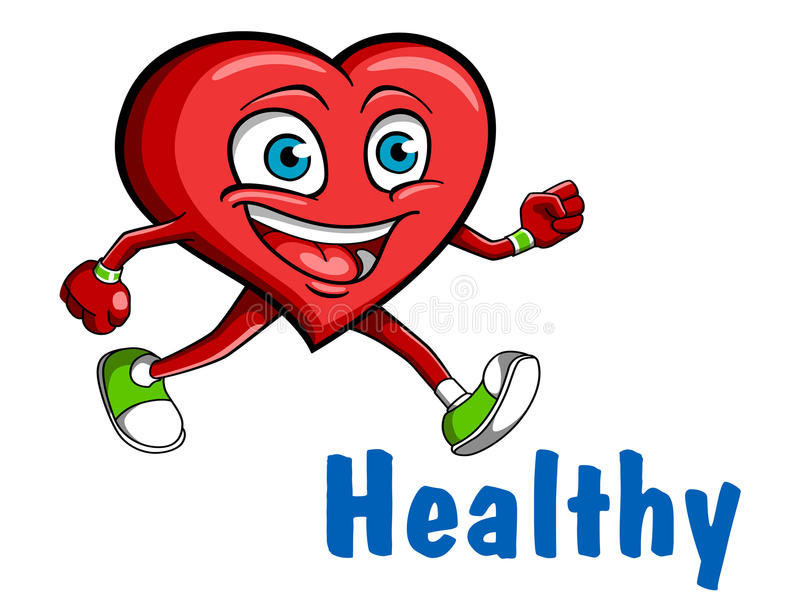 Running heart royalty free stock photography