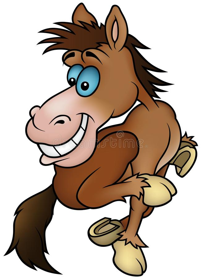 Download Running Horse stock vector. Image of humorous, comic - 12622035