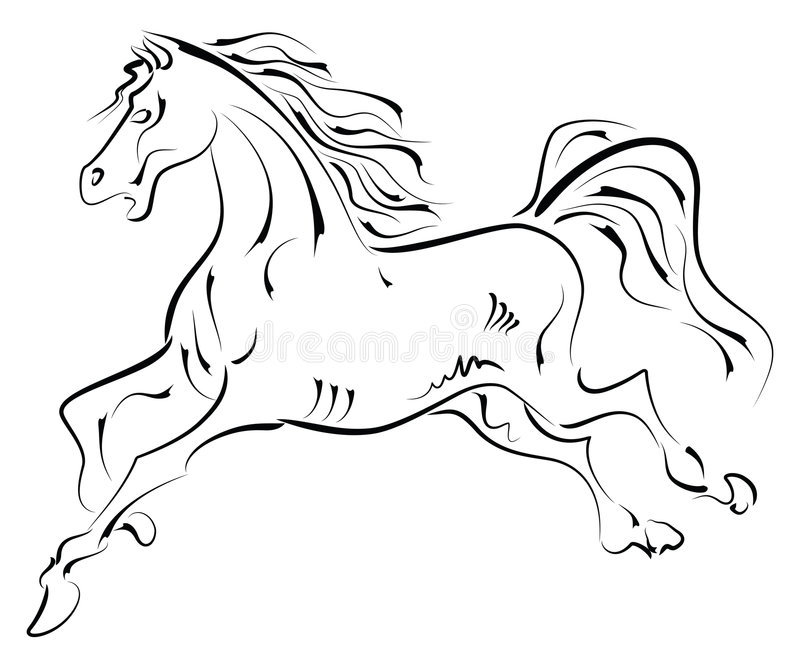 Download Running Horse stock vector. Image of mane, gallop, wild - 8074774
