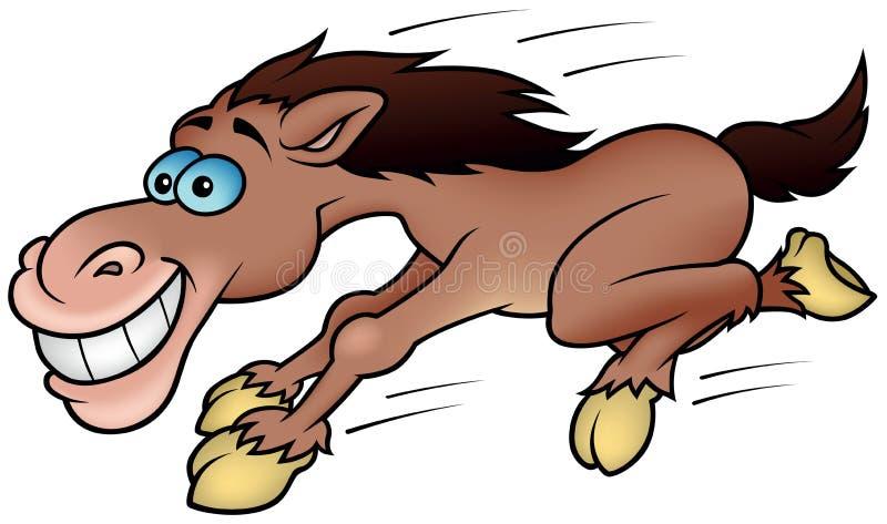 Running Horse. Colored Cartoon Illustration, Vector stock illustration
