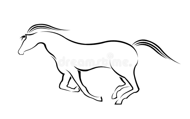 Download Running Horse silhouette stock vector. Image of clip - 36694066