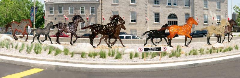 Running Horses Sculpture, Ottawa, Ontario, Canada royalty free stock photos