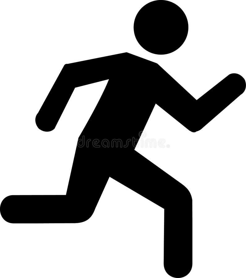 Running Icon. Vector sports icon stock illustration