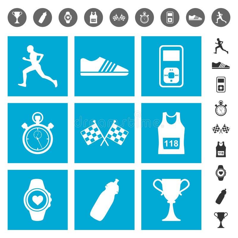 Running icons royalty free illustration
