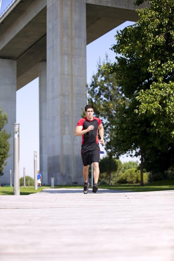 Running idrottsman nen arkivbilder