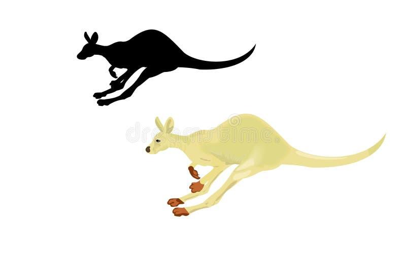 Download Running kangaroo stock vector. Illustration of clip, white - 12803005