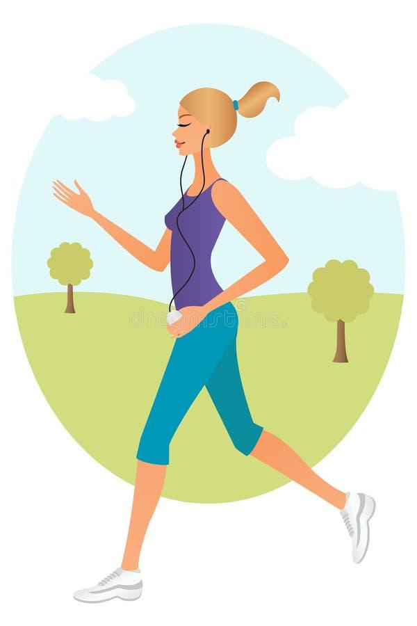 running kvinna stock illustrationer