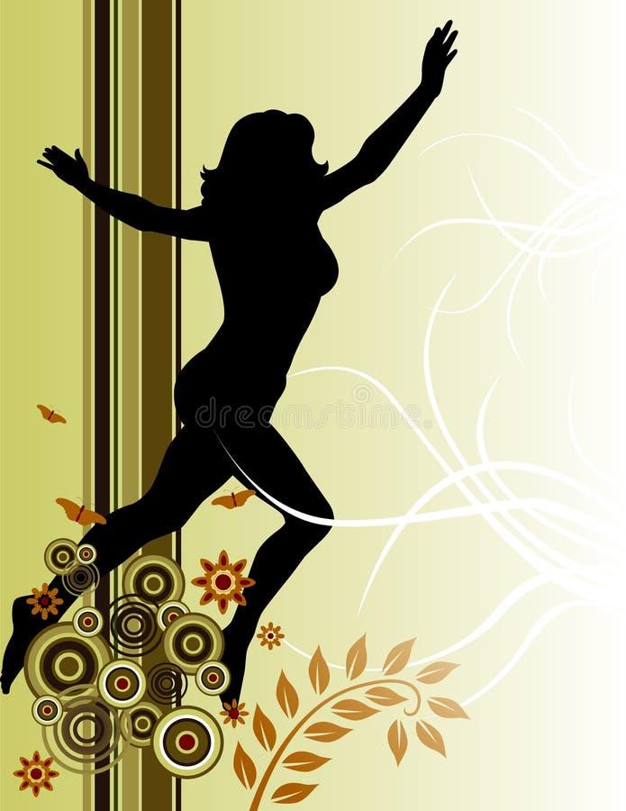 running kvinna royaltyfri illustrationer