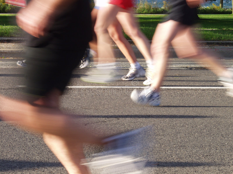 Download Running by the Lake stock image. Image of race, distance - 1276787