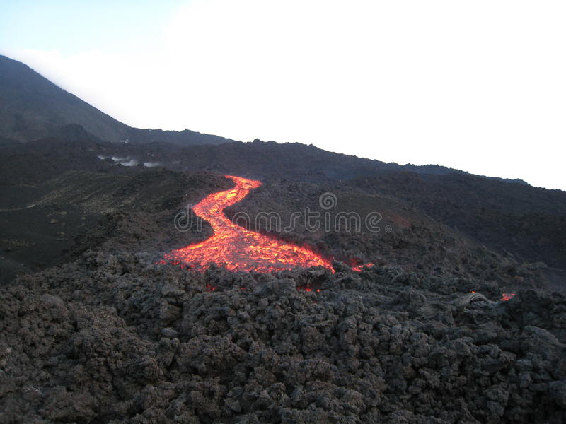 Download The Running Lava To The Front Stock Photo - Image: 32163032