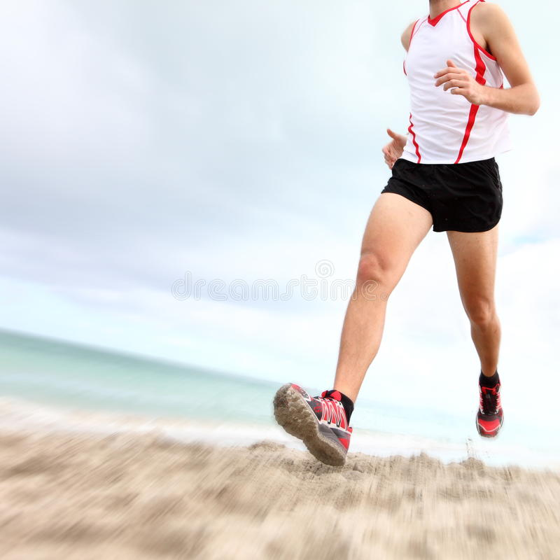 Running legs and shoes royalty free stock photography