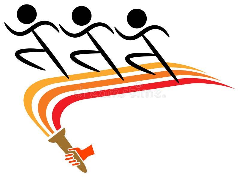 Running logo royalty free illustration