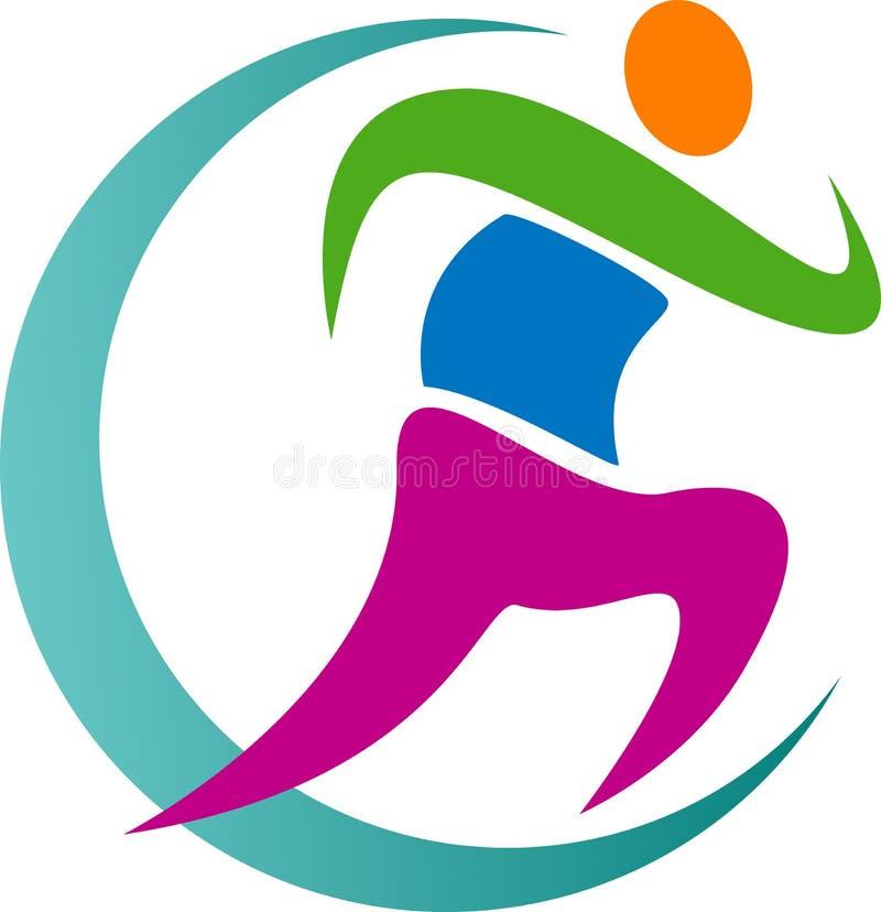 Running logo. Illustration of running logo design isolated on white background