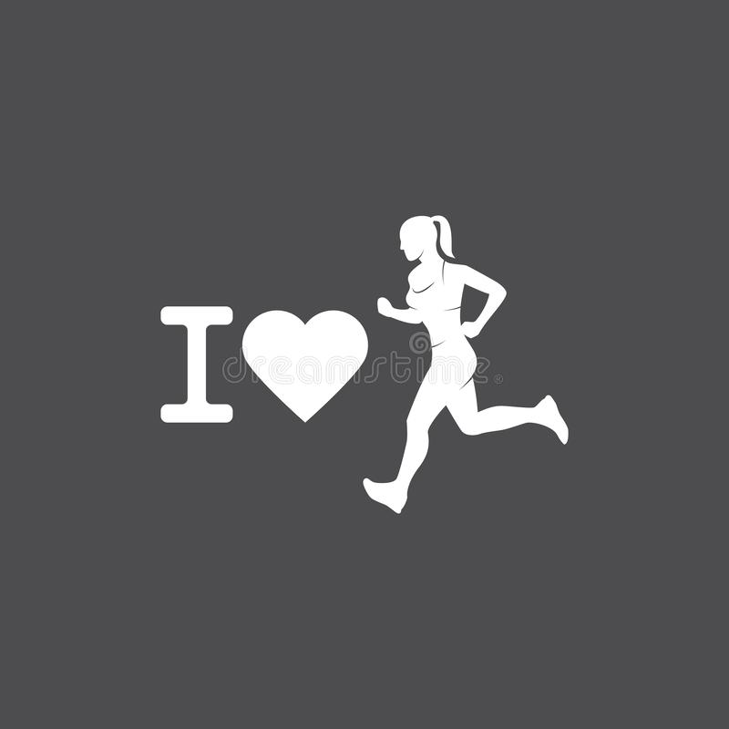 Running logo, marathon concept, sport activities, triathlon vector line icon royalty free stock photography