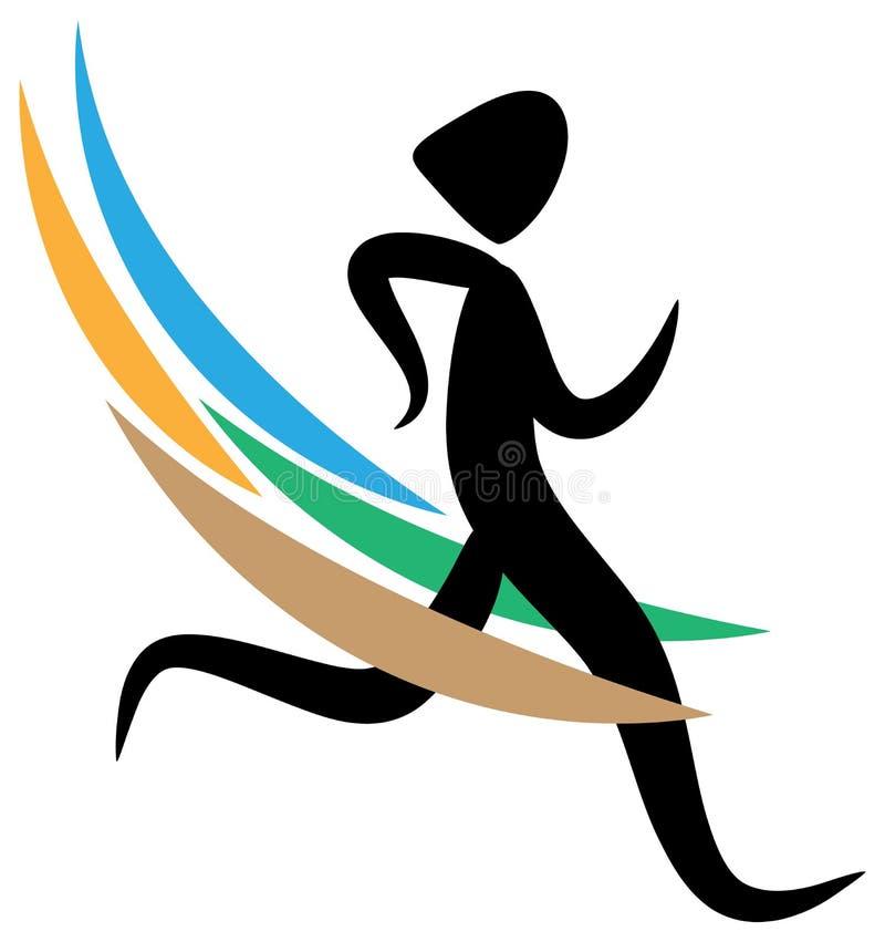 Running logo stock illustration