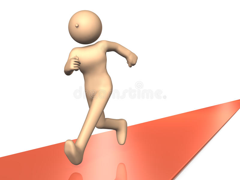He is running a long distance running. vector illustration