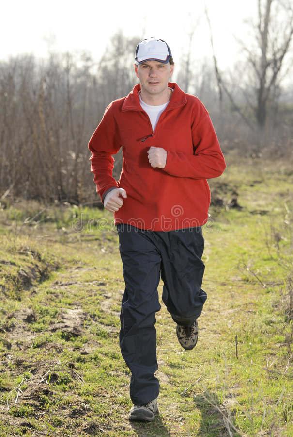 Download Running man stock image. Image of sportswear, front, clothing - 9091031