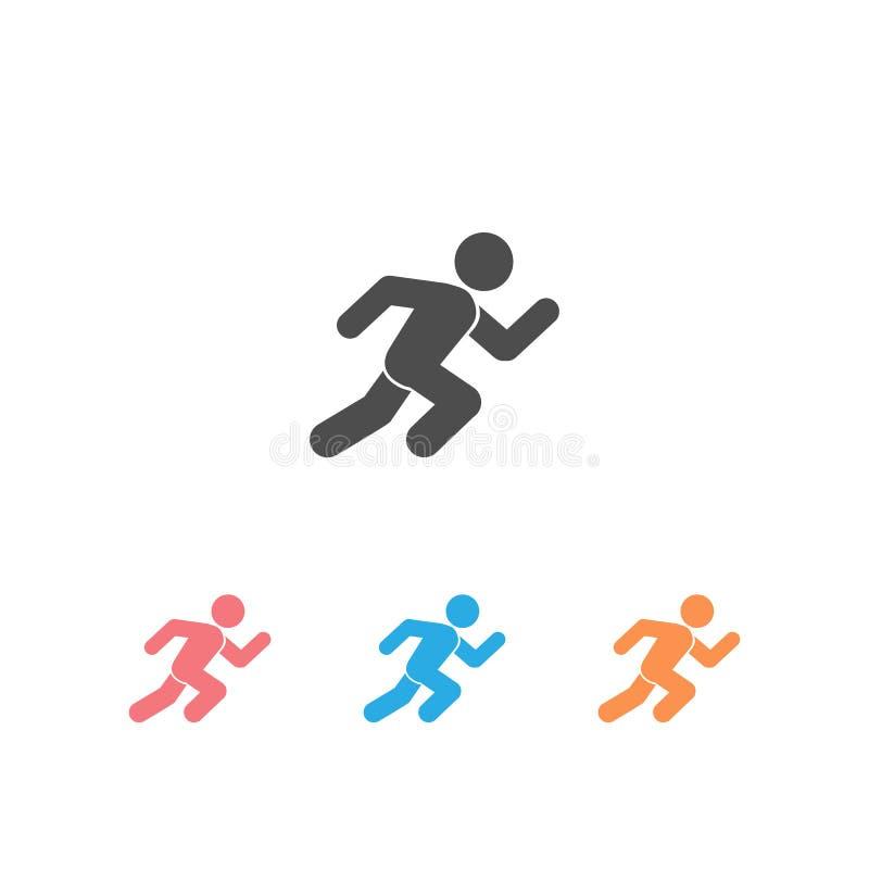 Running man, athletics, marathon, summer sport, run icon set isolated on white background. Vector vector illustration