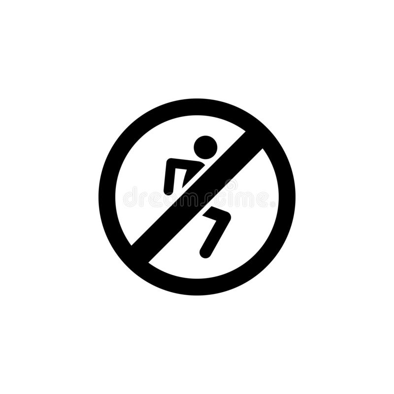 running man ban, prohibition, embargo, forbiddanceicon. Simple thin line, outline  of Ban icons for UI and UX, website or vector illustration