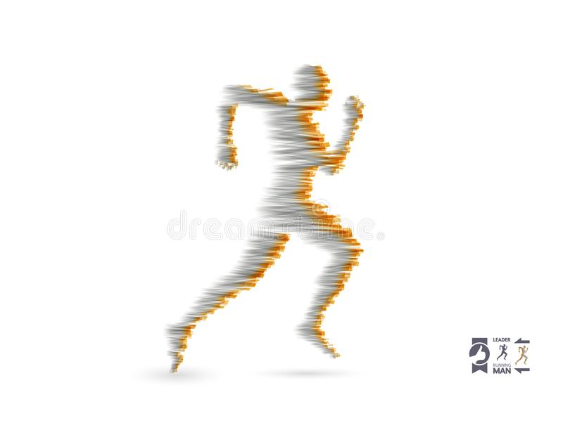 Running man. Design for sport and business. Sport concept. Vector illustration stock illustration