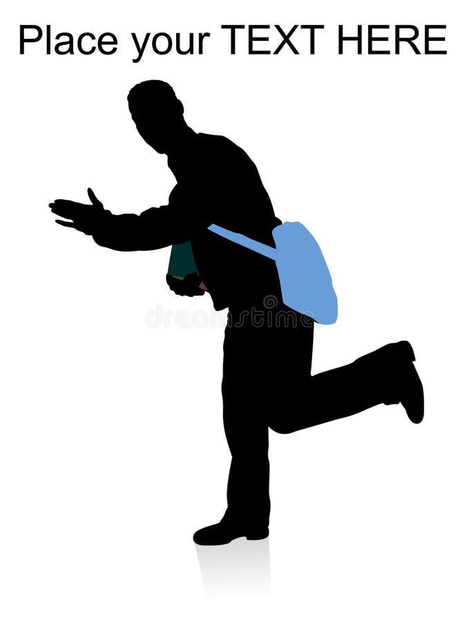 Free Running Man Hanging Bag Stock Images - 7420684