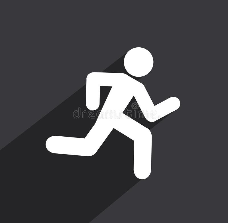 Running man icon background royalty free illustration