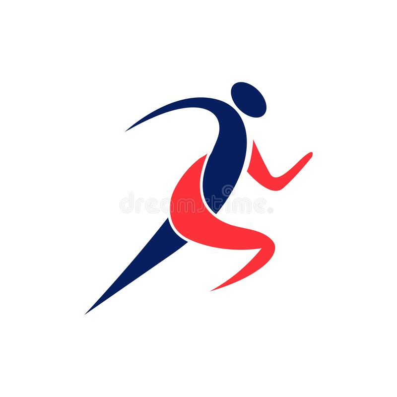 Running Man Vector Symbol. Sport And Competition Concept