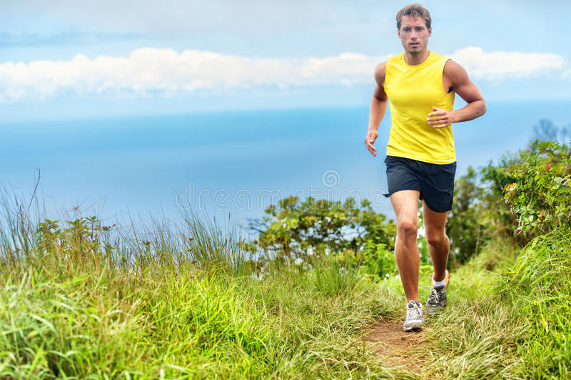 Running man runner living an active healthy life stock images