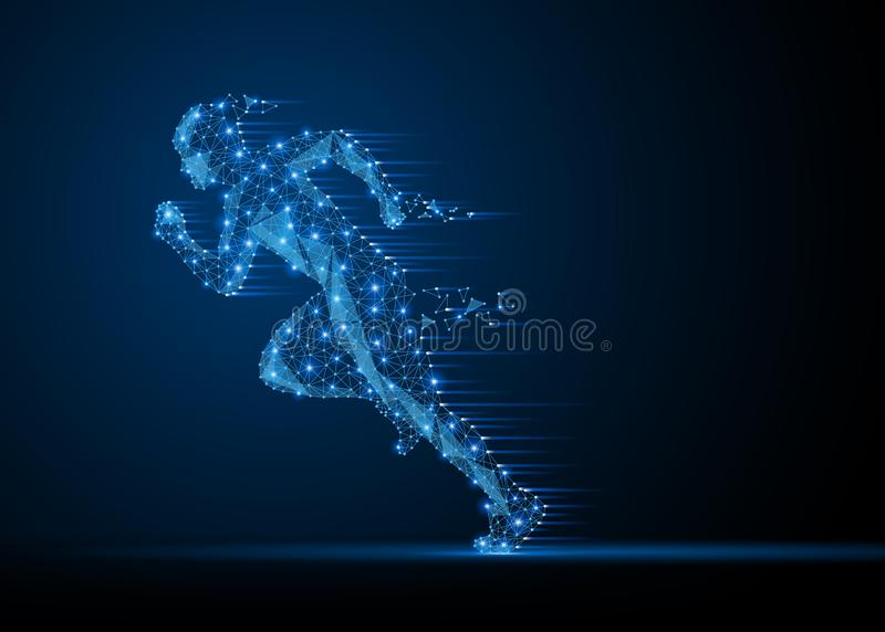 Running man silhouette stock illustration