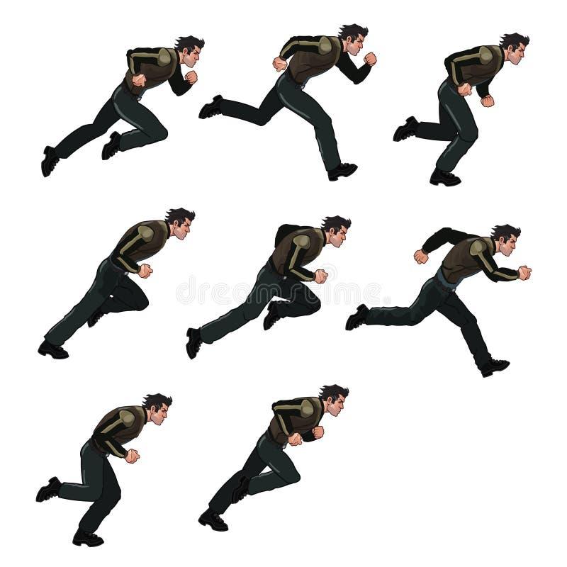 Running Man Sprite vector illustration