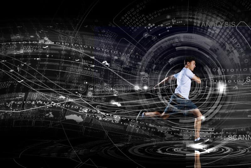 Running man stock illustration