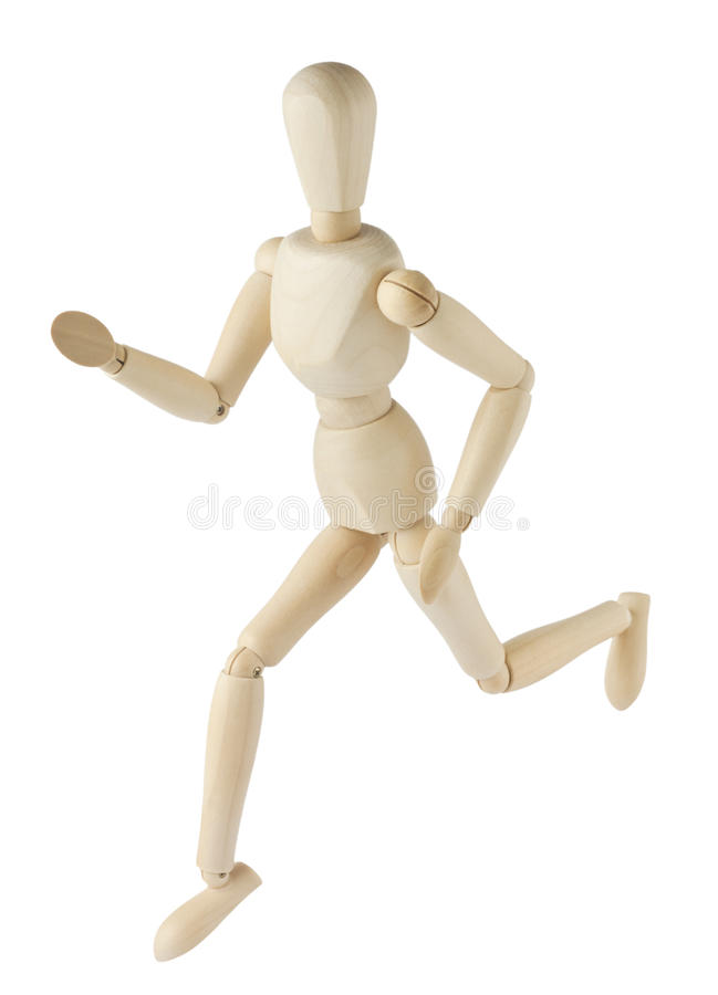 Running mannequin stock image
