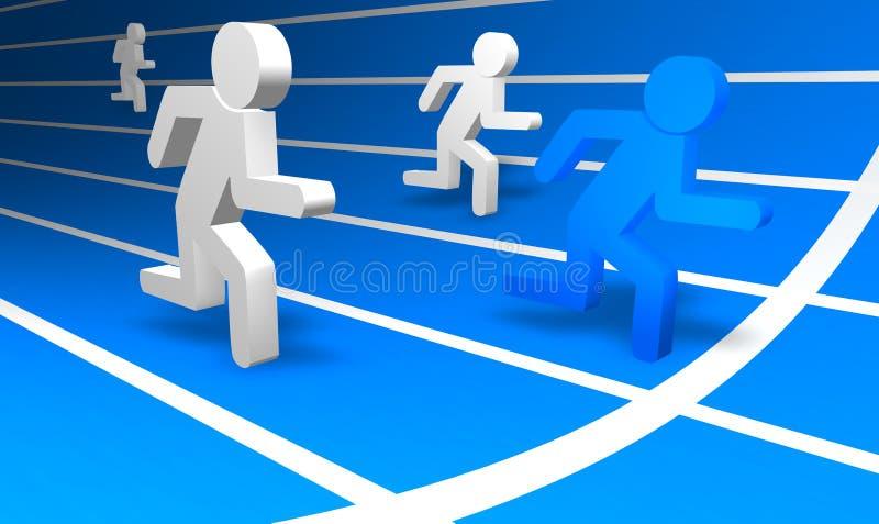 Download Running Men stock illustration. Image of globe, businessman - 7167433