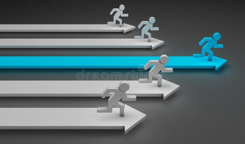 Running men vector illustration