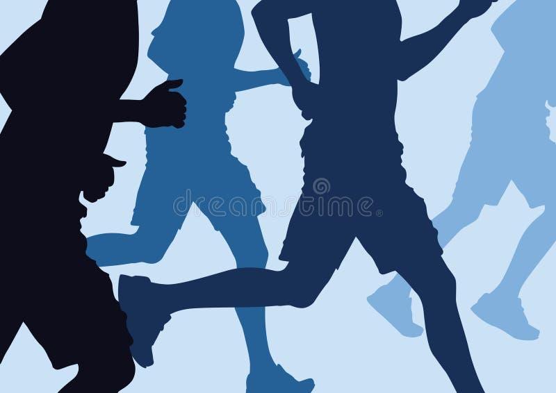 Running Men Abstract vector illustration