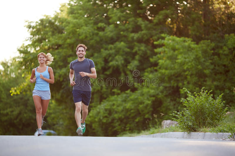 Running in the morning royalty free stock photography