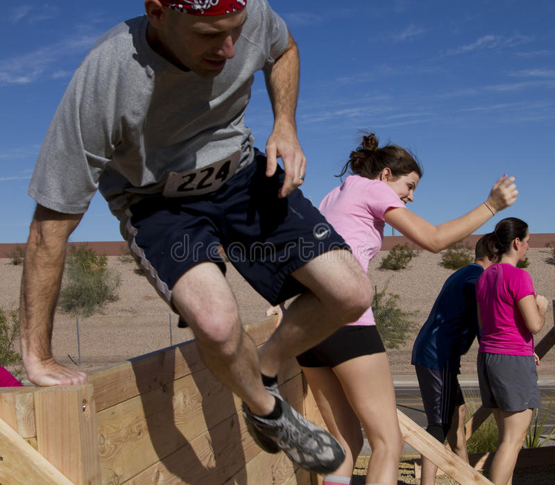 Running, Jumping,and Obstacle Course royalty free stock photos