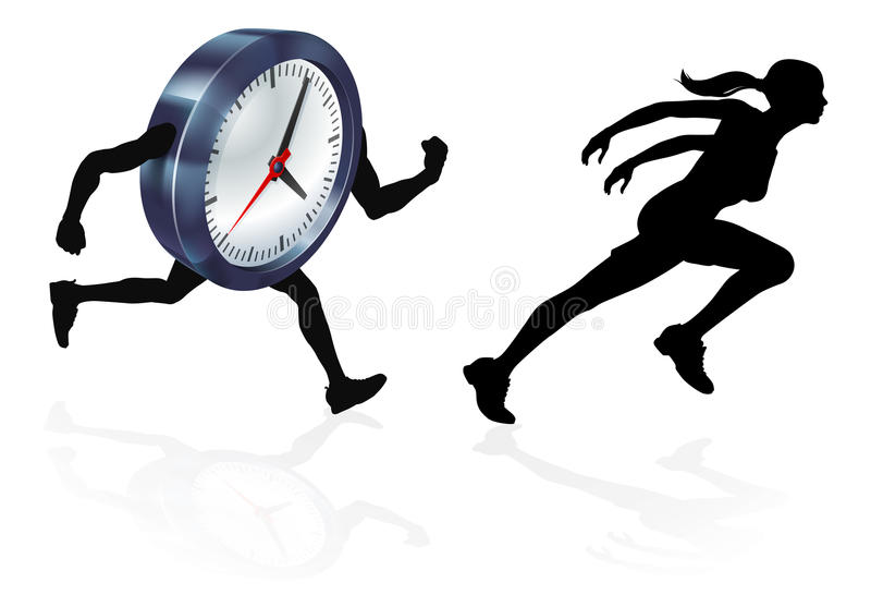 Running Out of Time Concept stock illustration