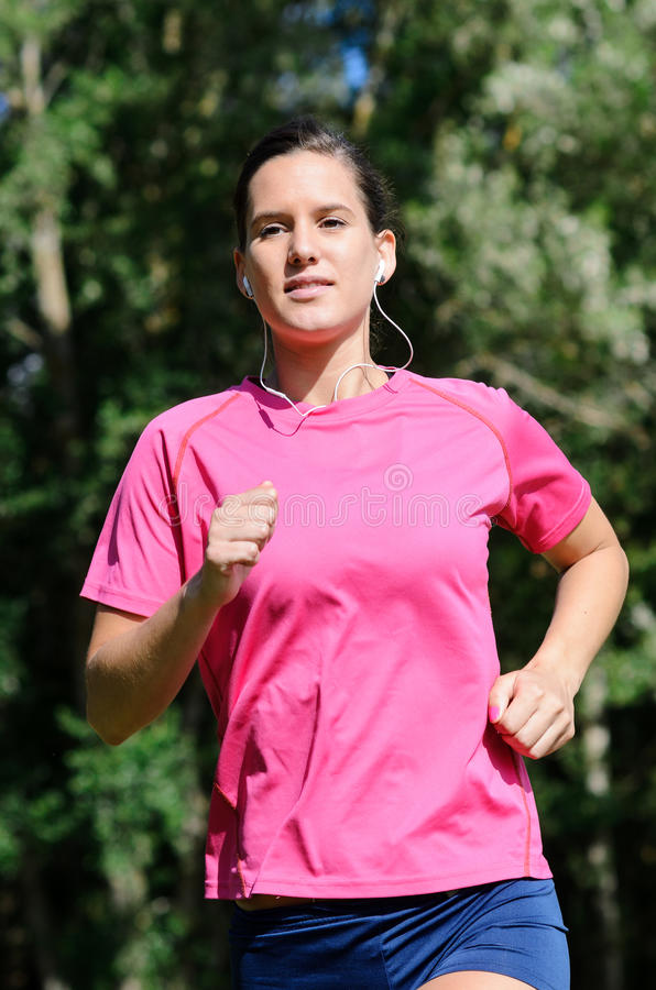 Download Running Outdoors And Smiling Stock Image - Image: 25554173