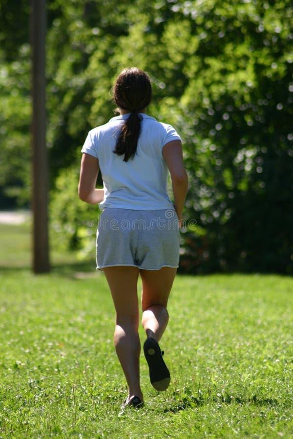 Running At The Park royalty free stock photos