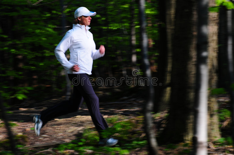 Running in the park royalty free stock photo