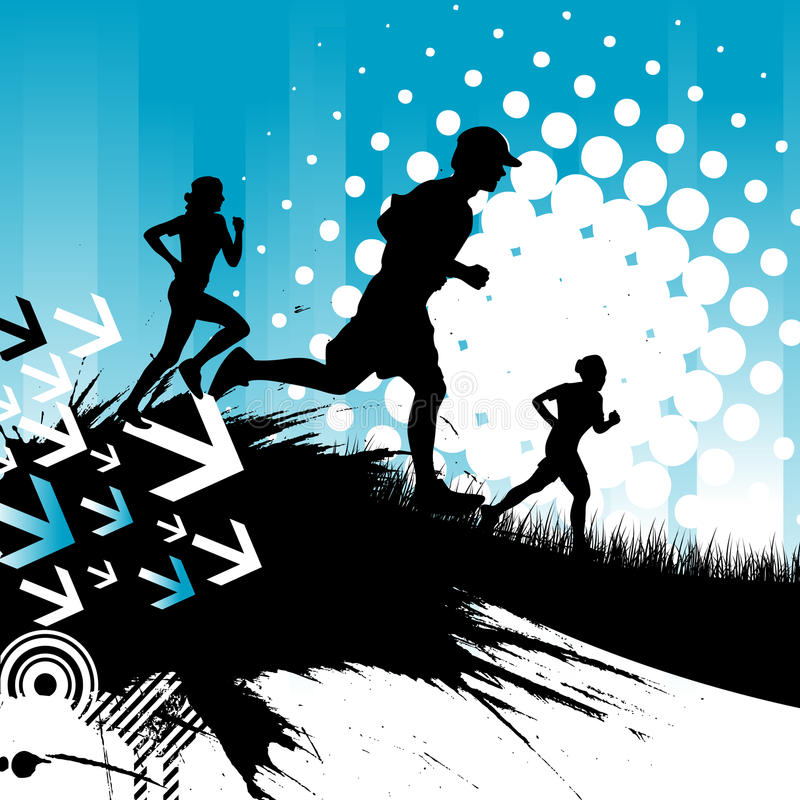 Running people stock illustration