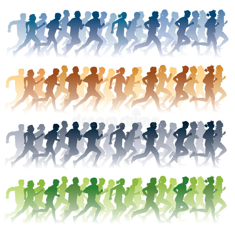 Download Running people stock vector. Image of graphic, exercise - 17610427