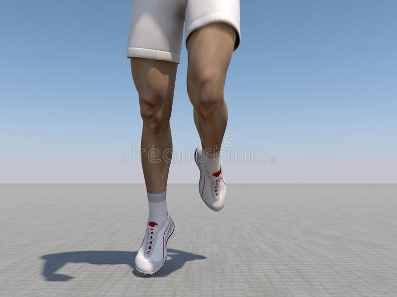 The running person vector illustration