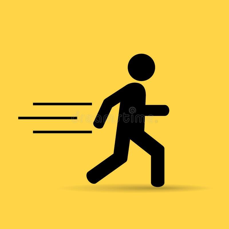 Running person stock illustration