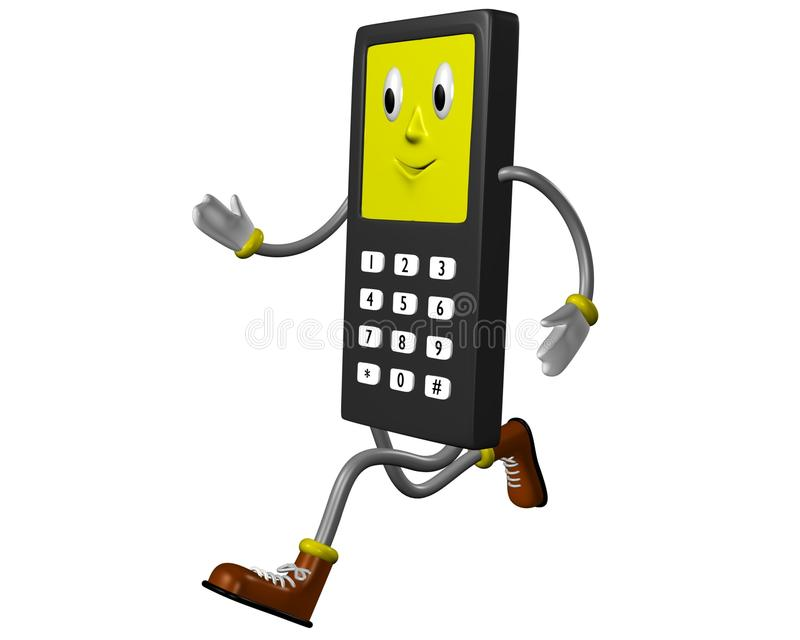Running phone royalty free stock photos